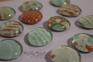 glass pebble fridge magnets