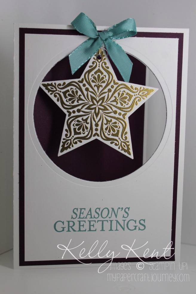 The card I made to wish Alisha a Merry Christmas