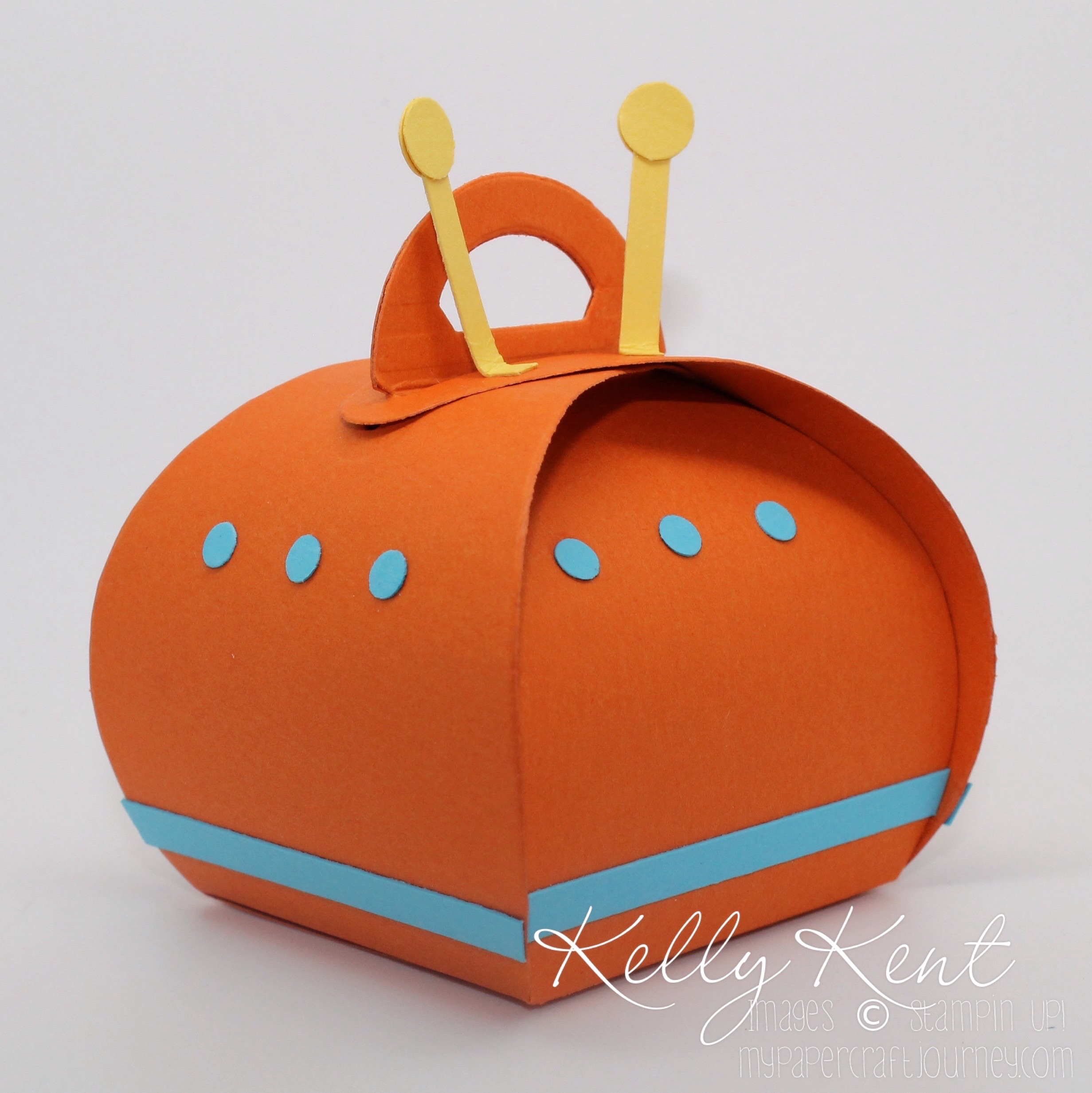 Rocket Card & Spaceship Curvy Keepsake Box