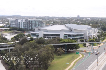 Convention Centre - the view from our balcony