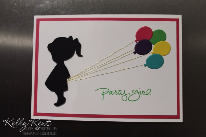 Party Girl Invites. Kelly Kent - mypapercraftjourney.com.