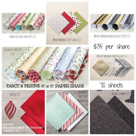 Fancy & Festive 6x6 Paper Share Kelly Kent