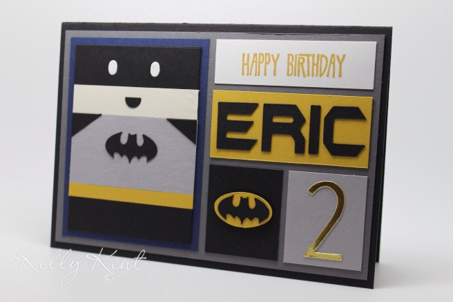 Batman Block Art Card.  Kelly Kent - mypapercraftjourney.com.
