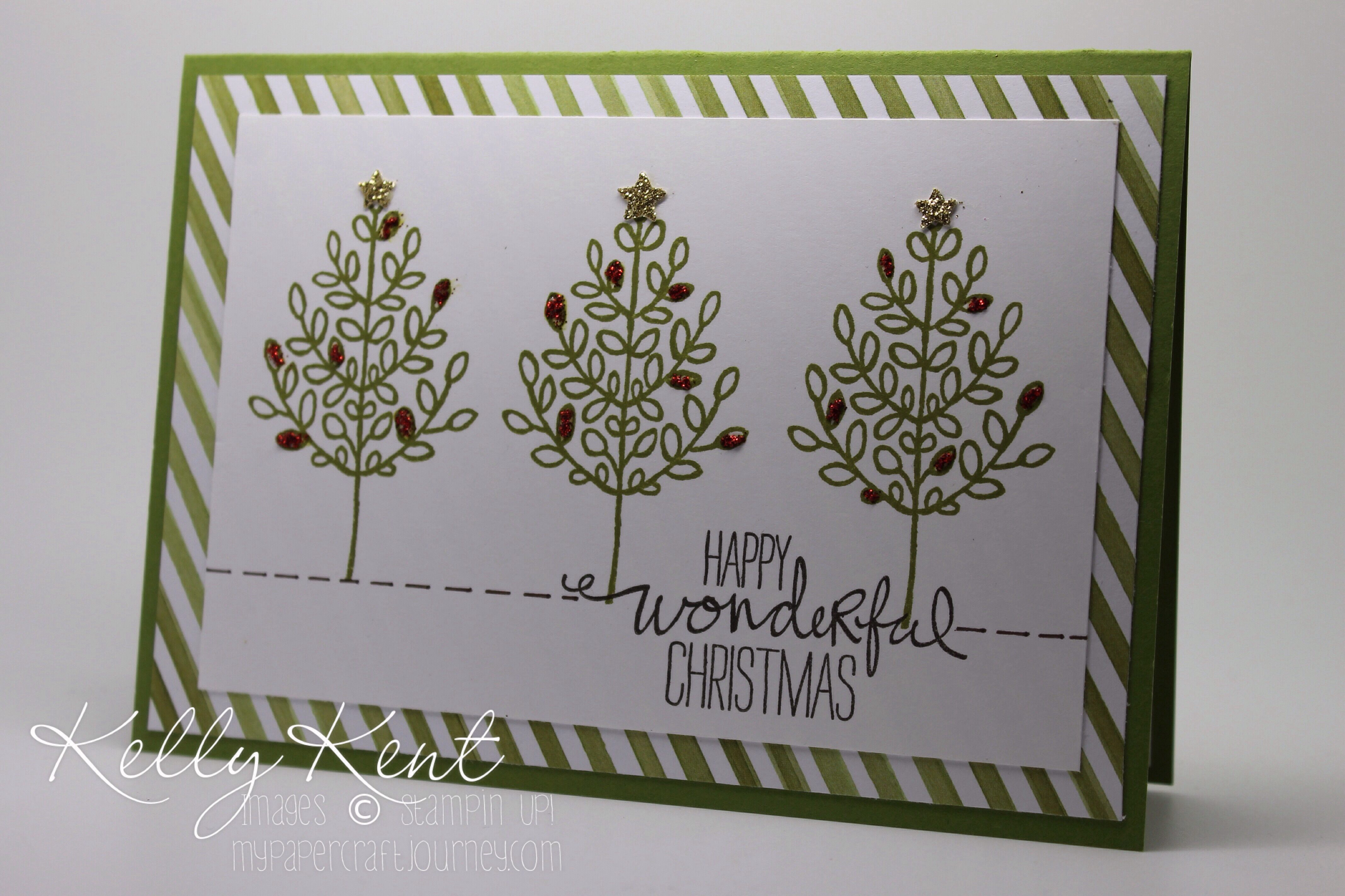Lighthearted Leaves - Dazzling Christmas Trees. Kelly Kent - mypapercraftjourney.com.