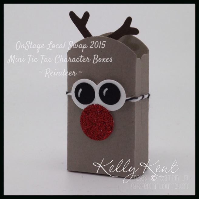 "Punches Body: Note Tag Antlers: Tree Builder Eyes: Owl Nose: 1/2"" circle"