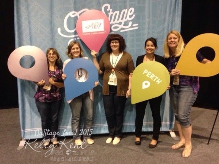 My Stampin' friends - Jenny, Rachael, Shannon, me & Nicole.