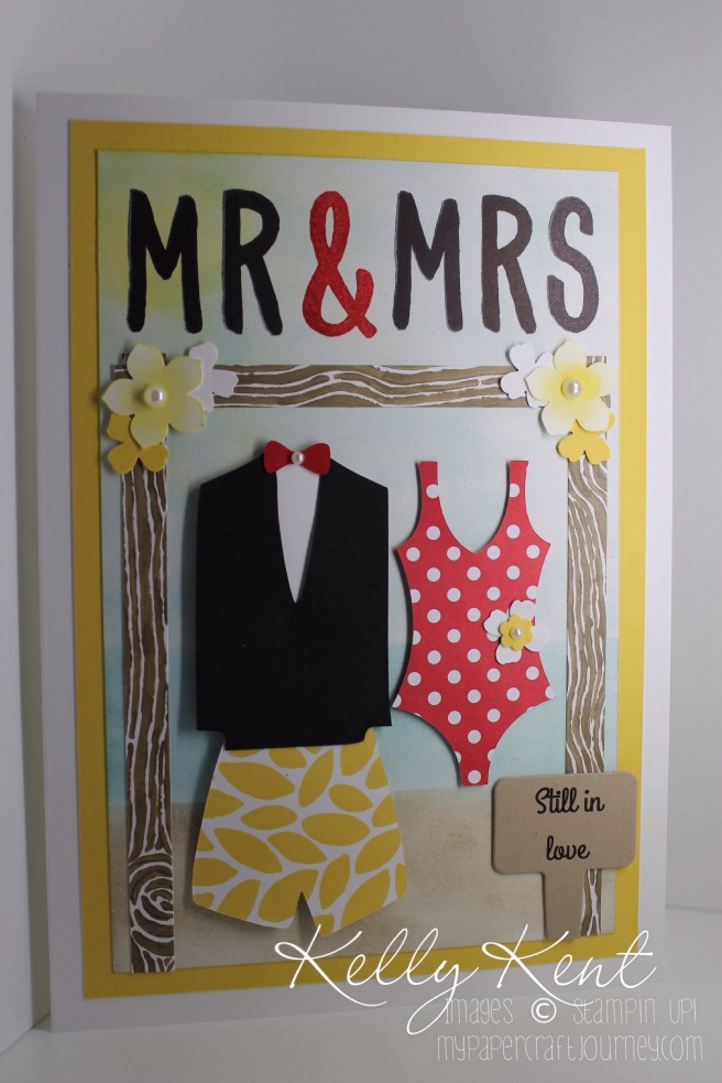 "Mr & Mrs ""Still in Love"": Bali vow renewal wedding card. Kelly Kent - mypapercraftjourney.com"