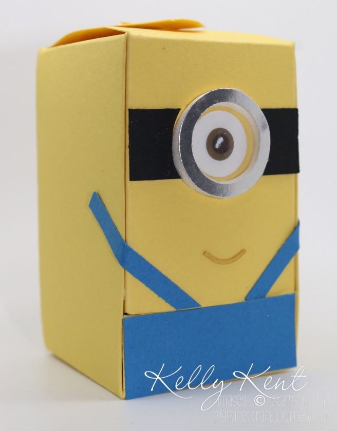 Minion Jellybean Dispenser Box. Kelly Kent - mypapercraftjourney.com.