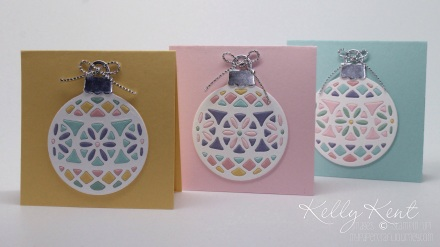Stained Glass Ornanament Tags - Delicate Ornament Thinlits Dies.  Kelly Kent - mypapercraftjourney.com.