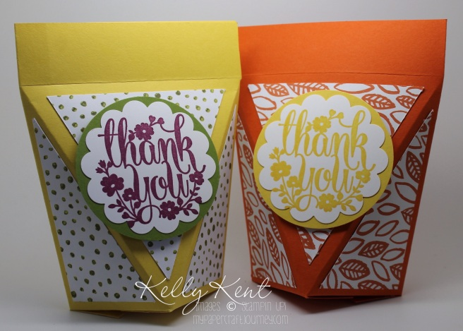Self-Closing Box. Into the Woods DSP & A Whole Lot of Lovely stamp set. Kelly Kent - mypapercraftjourney.com.
