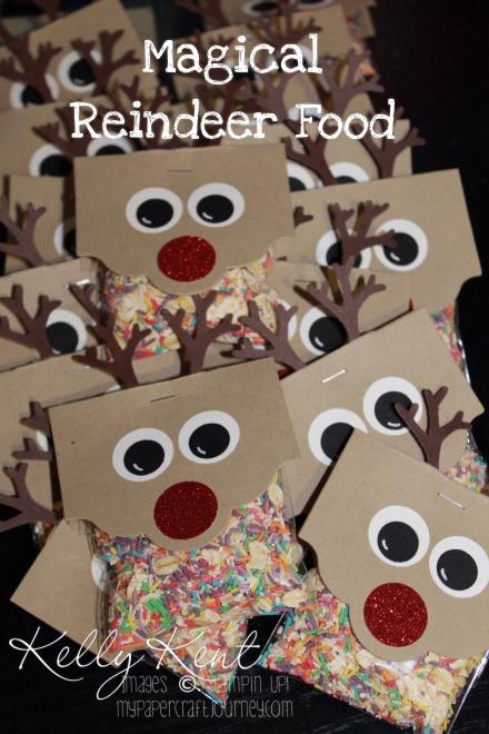 Magical Reindeer Food - Reindeer punch art. Kelly Kent - mypapercraftjourney.com.