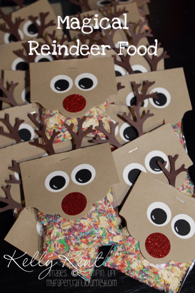 Magical Reindeer Food - Reindeer punch art. Kelly Kent - mypapercraftjourney.com.