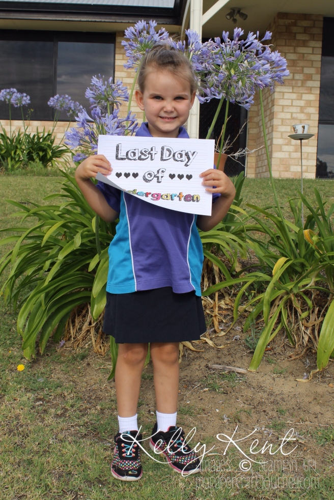My beautiful big girl on her last day of kindy