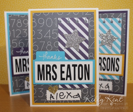 Personalised Thank You Teacher Cards. Kelly Kent - mypapercraftjourney.com.