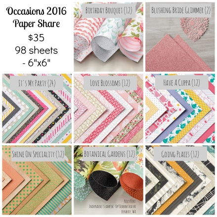 2016 Occasions Paper Share - Kelly Kent, mypapercraftjourney.com.