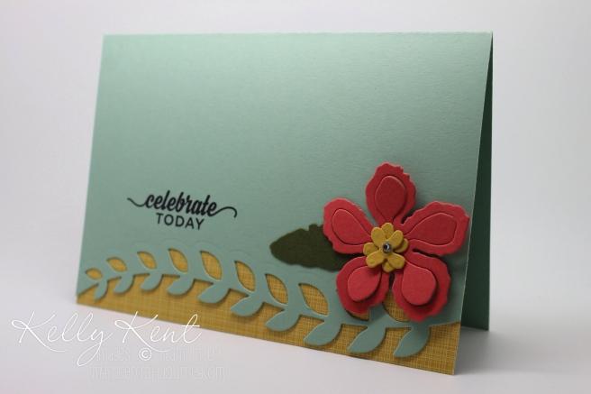 2016 Occasions Catalogue Launch Event - Card Kit #4 Botanical Gardens DSP, Botanical Builder Framelits & Enjoy the Little Things stamp set.  Kelly Kent - mypapercraftjourney.com.