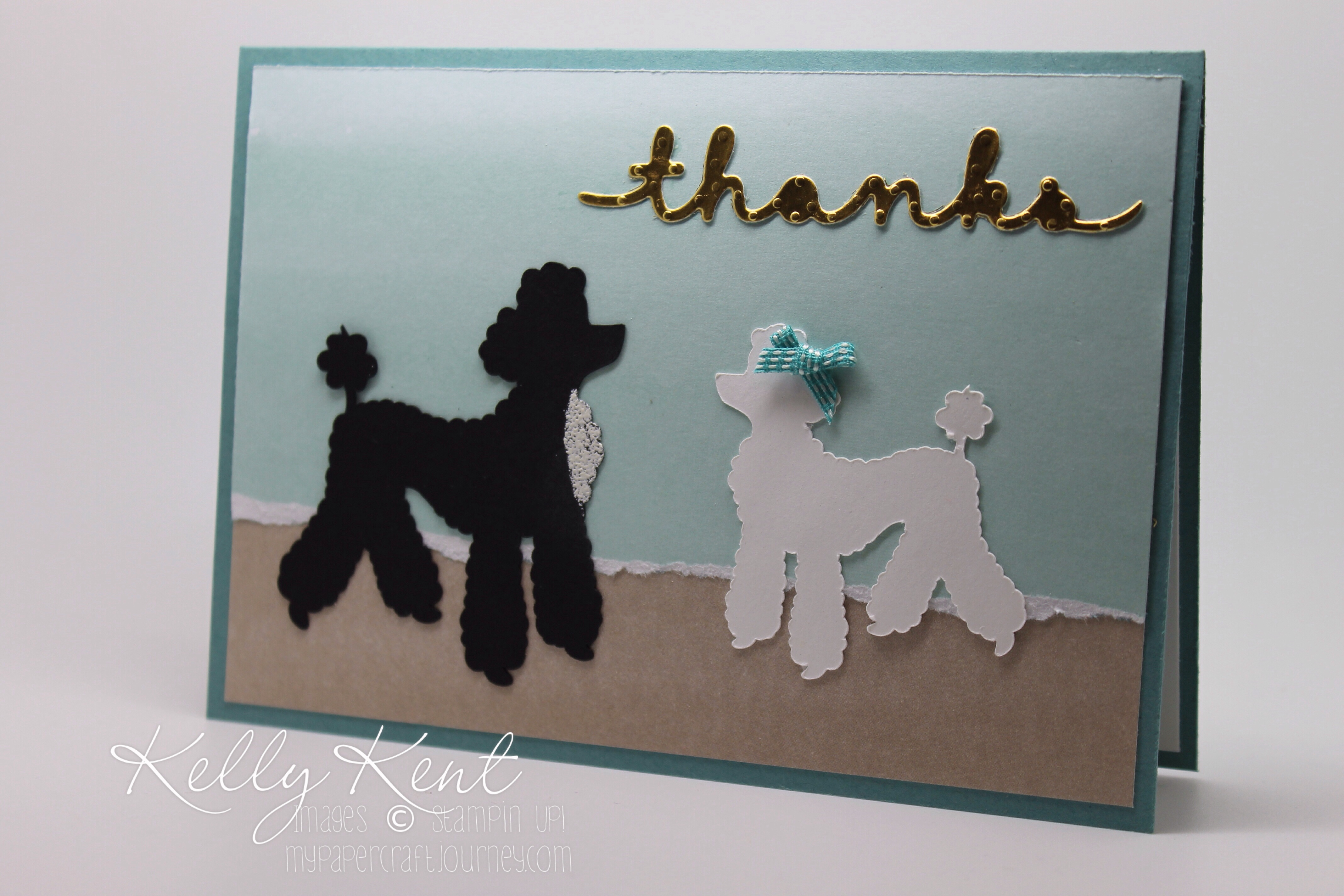 Perfect Poodles featuring Perfectly Artistic DSP - Kelly Kent, mypapercraftjourney.com.