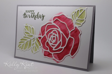 2016 Occasions Catalogue Launch Event - Card Kit #5 Rose Wonder Stamp Set & Rose Garden Thinlits.  Kelly Kent - mypapercraftjourney.com.