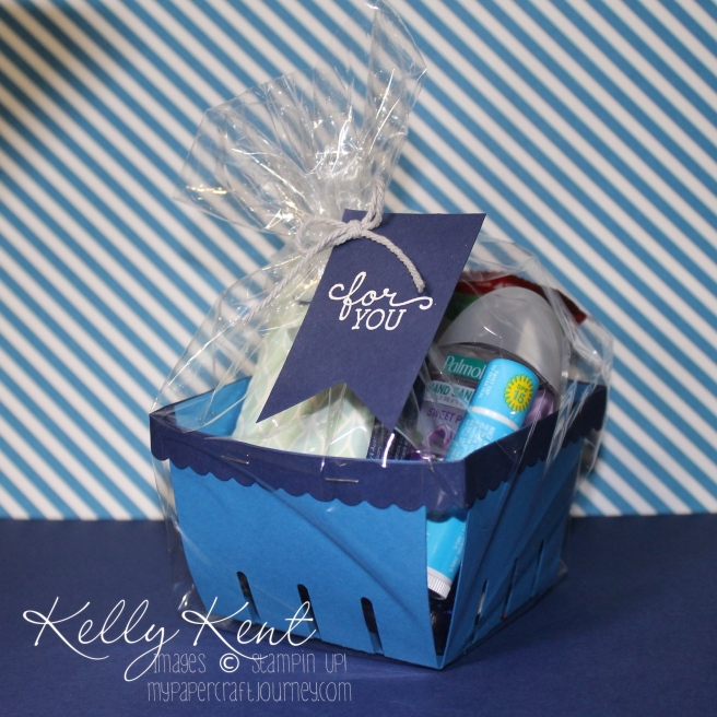 Teacher Survival Kit 2016 - Stampin' Up! Berry Basket. Kelly Kent - mypapercraftjourney.com.