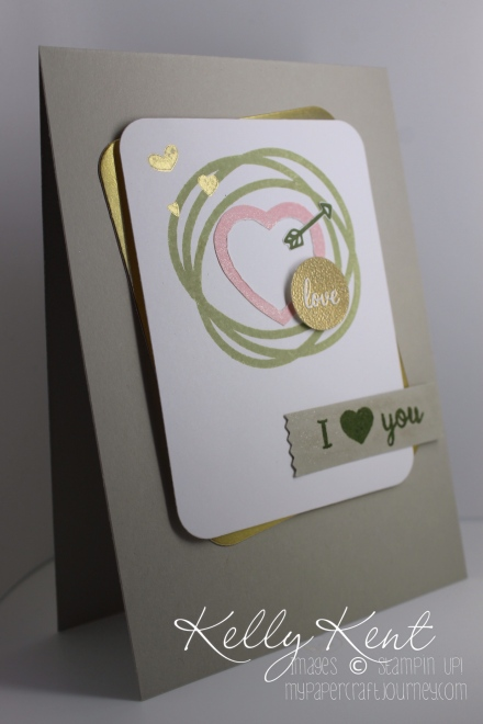 Valentines Day card using Project Life Memories in the Making stamp set, Card & Labels Framelits & Perpetual Calendar stamp set. Kelly Kent - mypapercraftjourney.com.