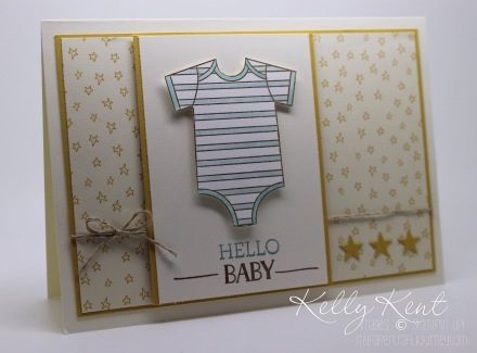 Hello Baby Twinkle Twinkle Little Star card using Sweet Li'l Things DSP and Made with Love Stamp Set. Kelly Kent - mypapercraftjourney.com.au