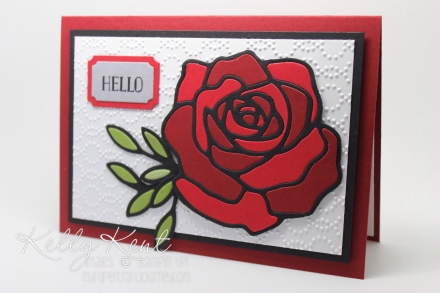 Rose Wonder Stained Glass Window technique. Kelly Kent - mypapercraftjourney.com.