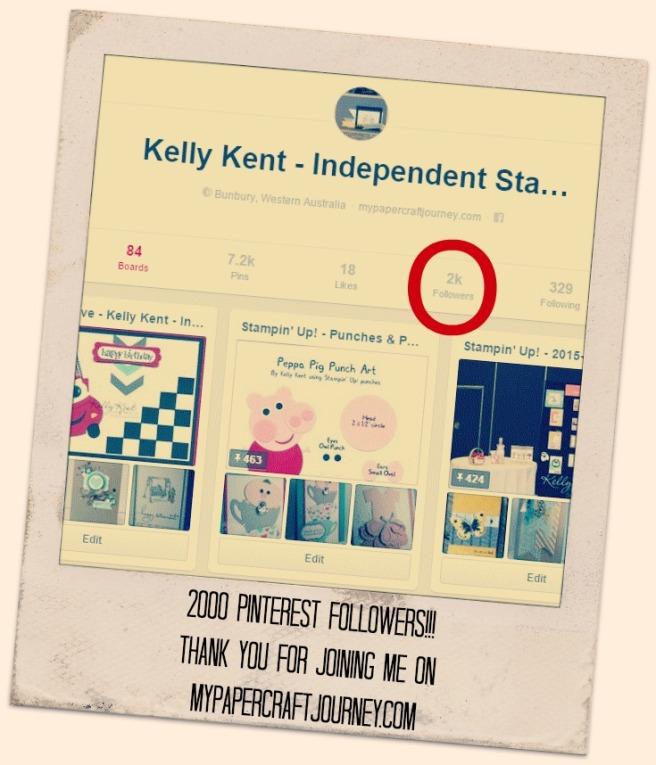 Kelly Kent mypapercraftjourney.com | 2000 Pinterest Followers
