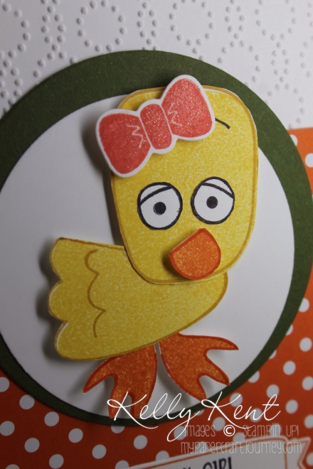 Playful Pals stamp set - Duck. Kelly Kent - mypapercraftjourney.com.