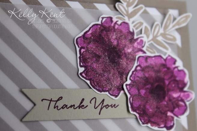 Just Add Ink 302 and Global Design Project #027. Sale-A-Bration stamp set - What I Love for the JAI colour challenge - Blackberry Bliss, Tip Top Taupe & Rich Razzleberry. Kelly Kent - mypapercraftjourney.com.