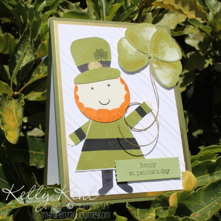 Happy St Patrick's Day 2016 - Playful Pals Leprechaun & Balloon Builders Clover. Kelly Kent - mypapercraftjourney.com.