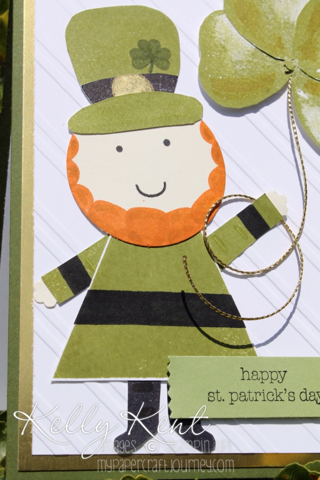 Happy St Patrick's Day 2016 - Playful Pals Leprechaun. Kelly Kent - mypapercraftjourney.com.