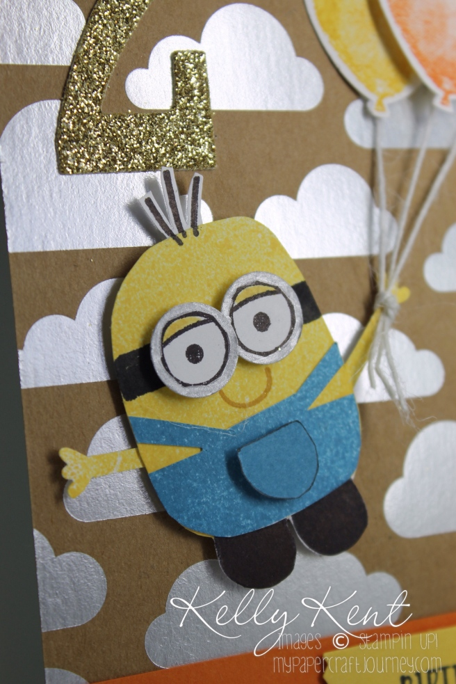 Playful Pals - Minion. Kelly Kent - mypapercraftjourney.com.