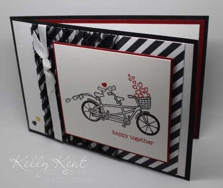 GDP028 & JAI303 - CASEing the Designer (Jessica Williams) with this Elegant Wedding Card. Pedal Pusher stamp stamp. Kelly Kent - mypapercraftjourney.com.