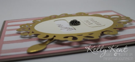 Press for Champagne Rotating Birthday Card. Balloon Builders stamp set & Birthday Bouquet DSP. Kelly Kent - mypapercraftjourney.com.
