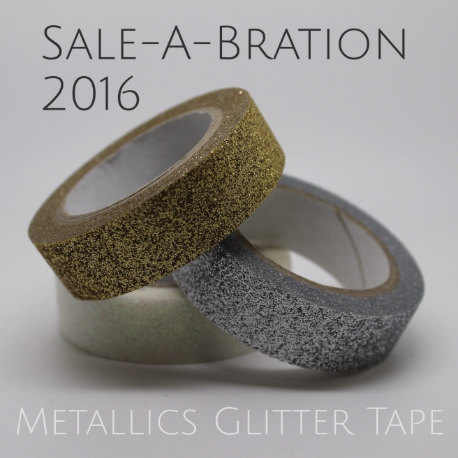ESAD Blog Hop - 3 great Metallics Glitter Tape projects. Kelly Kent - mypapercraftjourney.com.