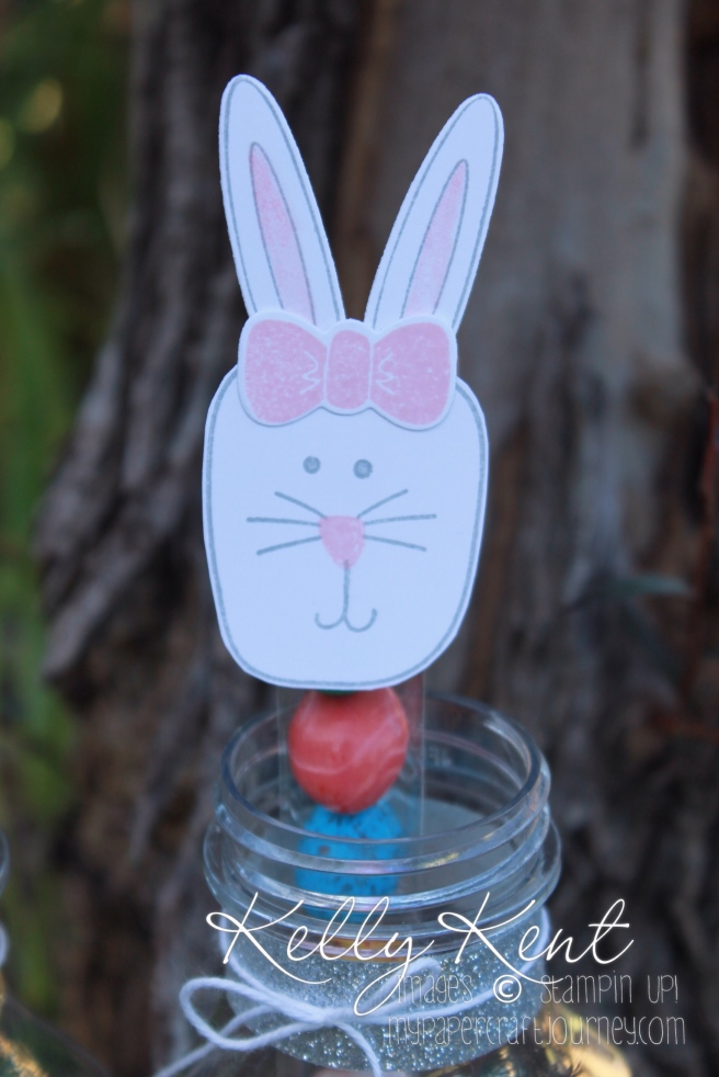 Playful Pals bundle- Easter Bunny Treat Tubes. Kelly Kent - mypapercraftjourney.com.