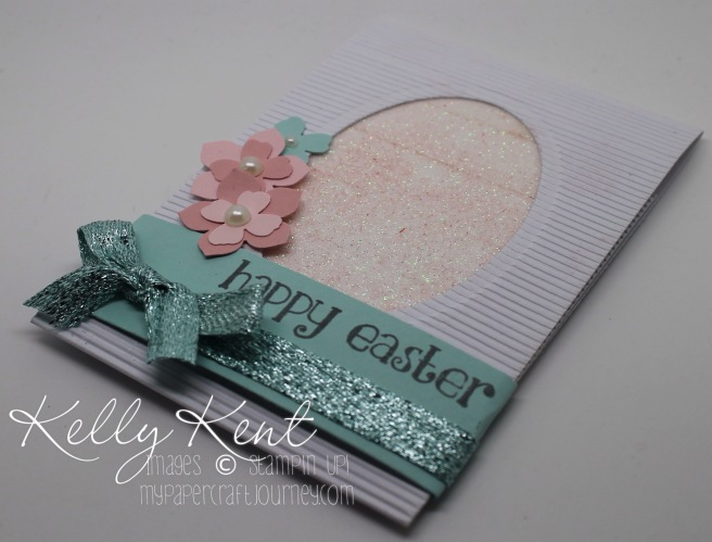 ESAD Last Chance Sale-A-Bration 2016 Blog Hop - Metallics Glitter Tape Easter Egg Gift Card Holder. Kelly Kent - mypapercraftjourney.com.