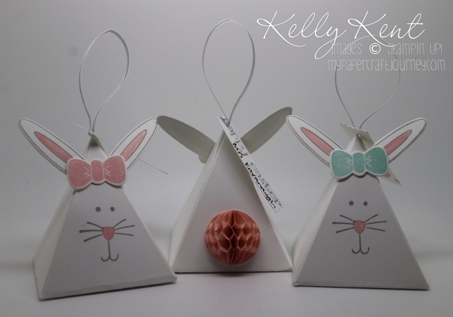 Pyramid Pals Easter Bunnies. Kelly Kent - mypapercraftjourney.com.