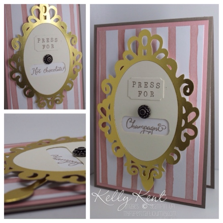 Press for Champagne (Hot Chocolate) Spinner Card. Kelly Kent - mypapercraftjourney.com