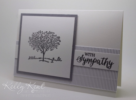 SImple Sympathy Card - Rose Wonder & Happy Home stamp sets.  Kelly Kent - mypapercraftjourney.com.