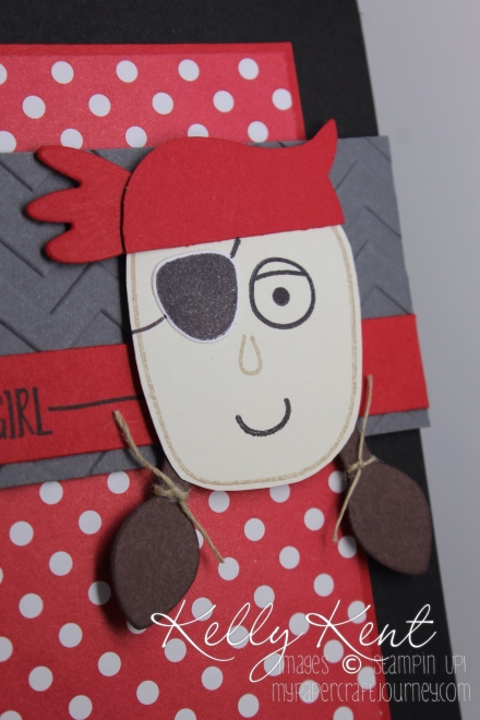 Girls Like Pirates Too - Playful Pals Pirate Punch Art. Freshly Made Sketches #226. Kelly Kent - mypapercraftjourney.com.