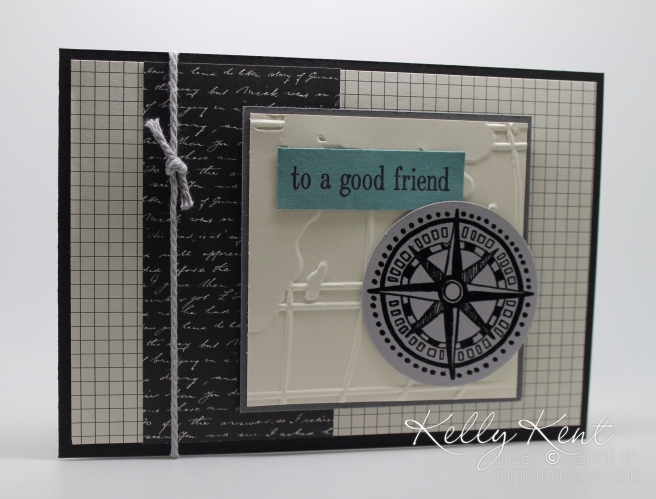 Retiring Soon: Going Global stamp set, Going Places DSP & World Traveler embossing folder. Kelly Kent - mypapercraftjourney.com.