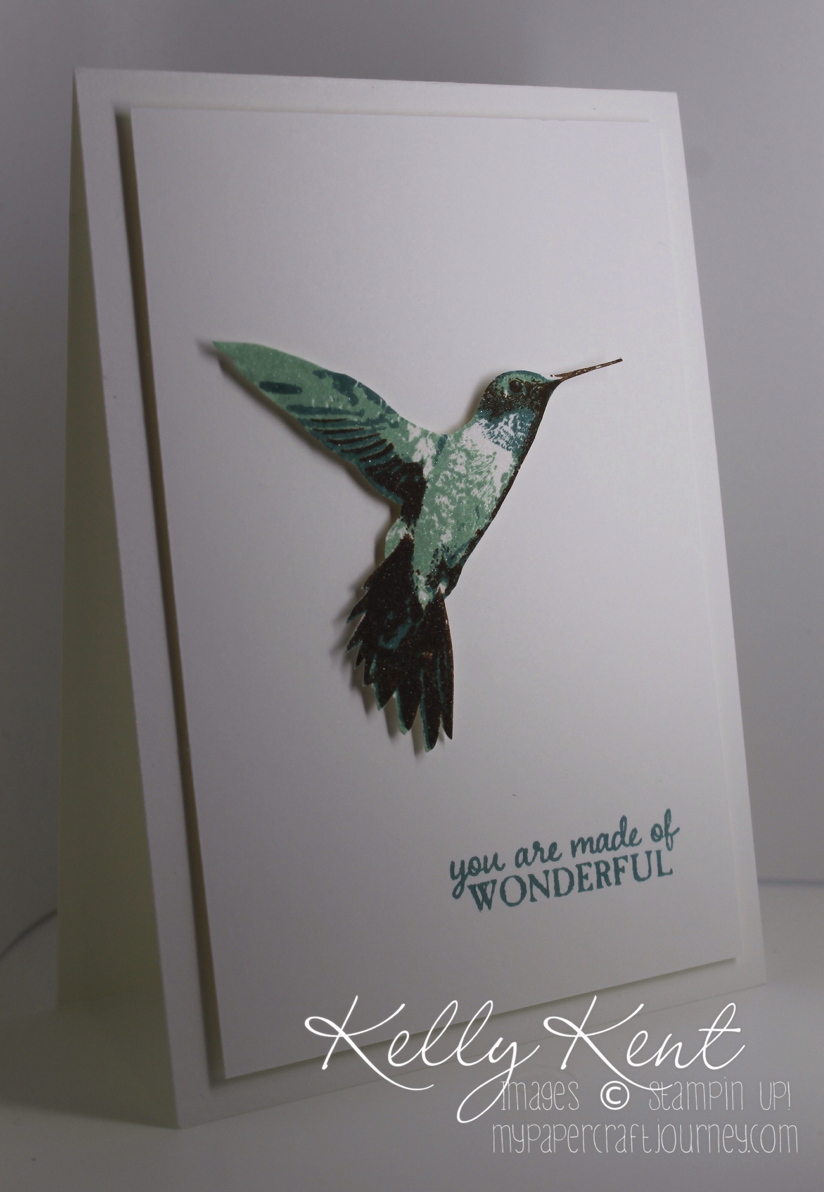 Clean & Simple: Nature GDP#031. Picture Perfect Hummingbird. Kelly Kent -mypapercraftjourney.com.