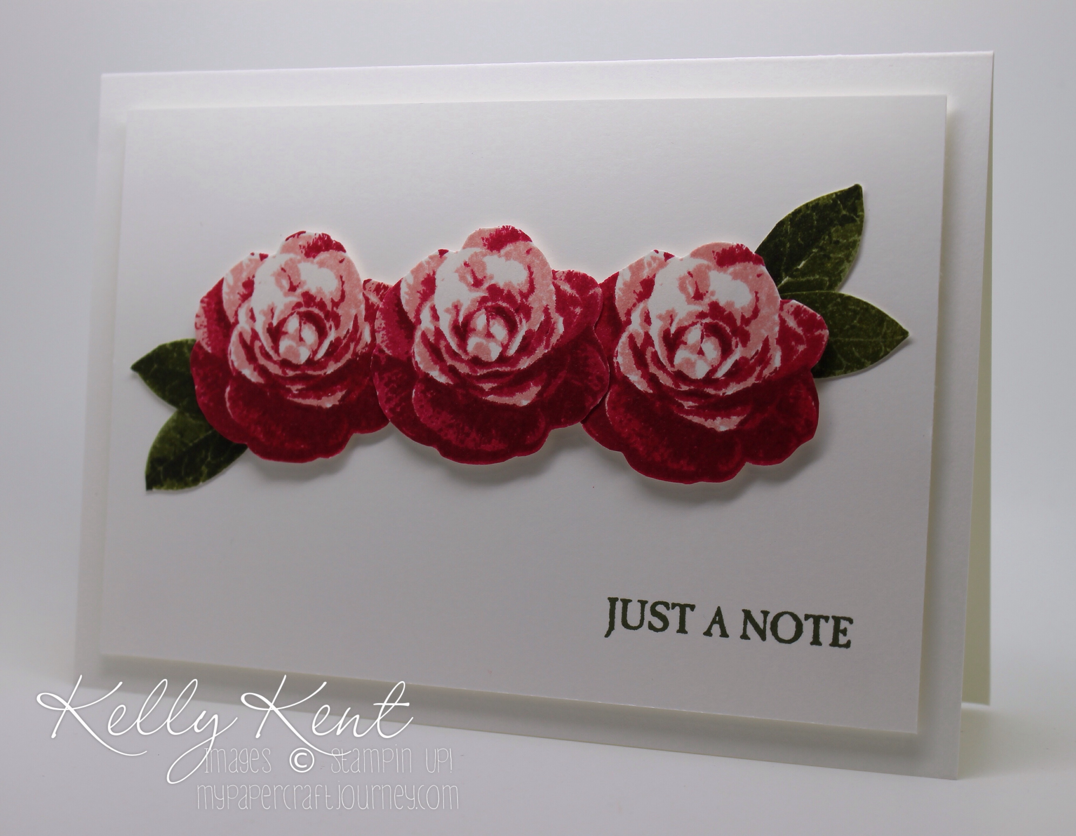 Clean & Simple: Nature GDP#031. Picture Perfect Roses. Kelly Kent -mypapercraftjourney.com.