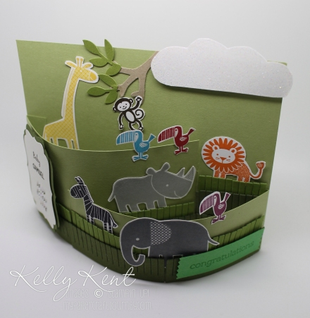 Zoo Babies Bendi Card - Measurements & Instruction included for Australian sized cardstock. Kelly Kent - mypapercraftjourney.com.
