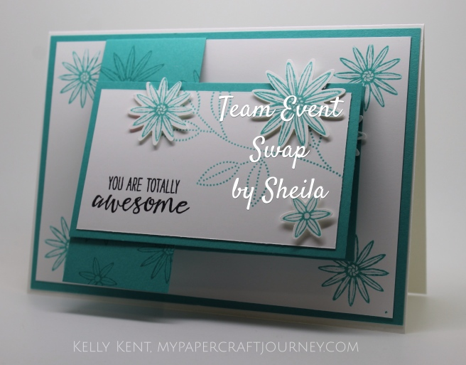 Team Event April 2016- Swap by Sheila.  Kelly Kent - mypapercraftjourney.com.