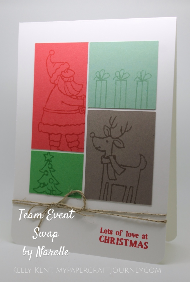 Team Event April 2016- Swap by Narelle.  Kelly Kent - mypapercraftjourney.com.