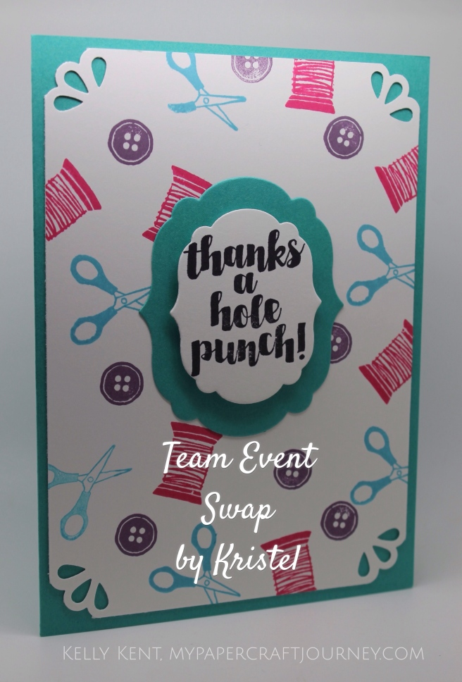 Team Event April 2016- Swap by Kristel.  Kelly Kent - mypapercraftjourney.com.