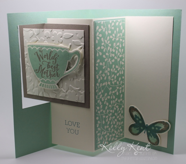 Pop Out Swing Card - Have A Cuppa Best Mother design. Kelly Kent - mypapercraftjourney.com.