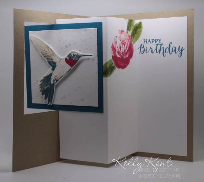 Pop Out Swing Card - Picture Perfect Birthday design. Kelly Kent - mypapercraftjourney.com.